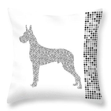 Dane Dots Black And White Throw Pillow
