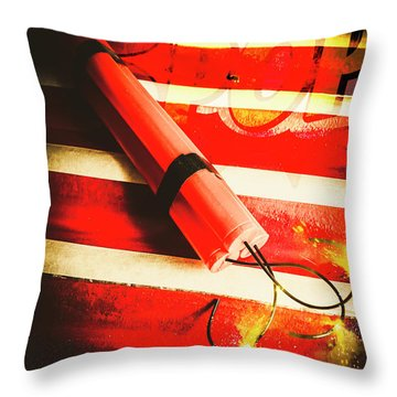 Danger Bomb Background Throw Pillow
