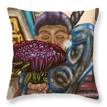 Dangerous Flowers Throw Pillow
