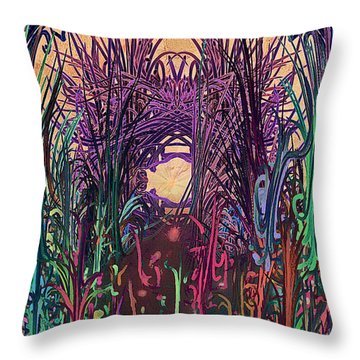 Dangerous Path Throw Pillow