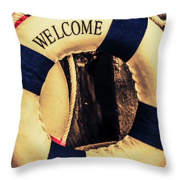Dangers From Nautical Old Throw Pillow