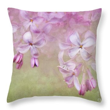 Dangle Me Lilac Throw Pillow