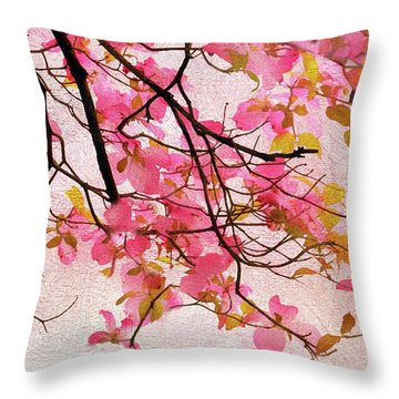 Dangling Dogwood Throw Pillow