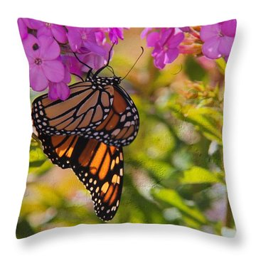 Dangling Monarch   Throw Pillow