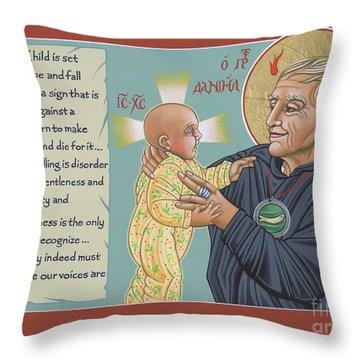 Holy Prophet Daniel Berrigan 291  Throw Pillow