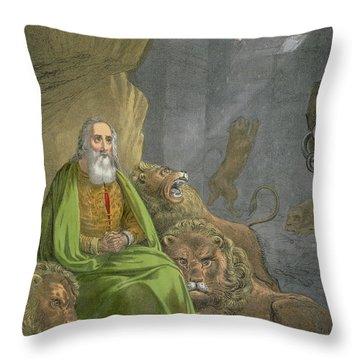 Daniel In The Lions' Den Throw Pillow