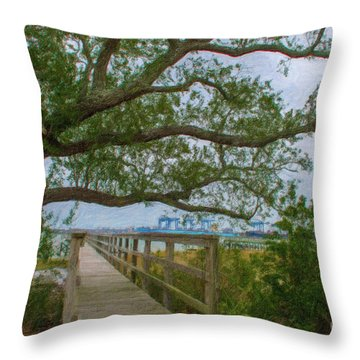 Daniel Island Time Throw Pillow
