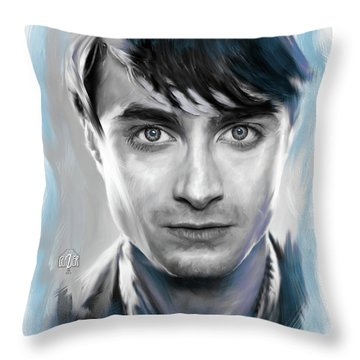 Daniel Radcliffe As Harry Potter Throw Pillow