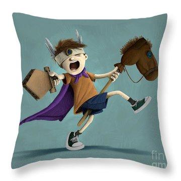 Daniel The Brave Throw Pillow