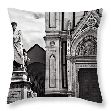 Dante At The Church Throw Pillow