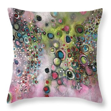 Throw Pillow featuring the painting Dante's Divine Valentine by Laurie Maves ART