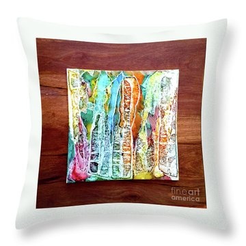 Danxia Water Falls Throw Pillow