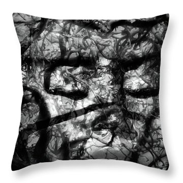 Daphne Sacrifice Throw Pillow by Angelina Vick