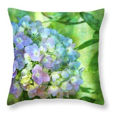Dappled Light Hydrangea 2300 Idp_2 Throw Pillow