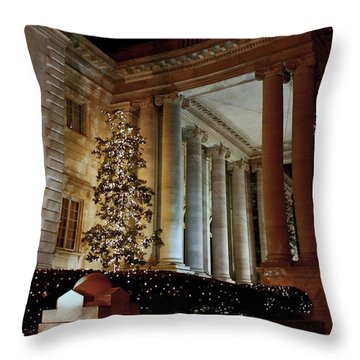 Dar Memorial Continental Hall Throw Pillow by Suzanne Stout