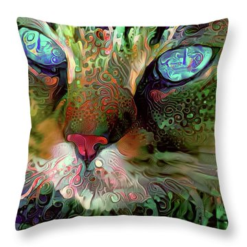 Darby The Long Haired Cat Throw Pillow