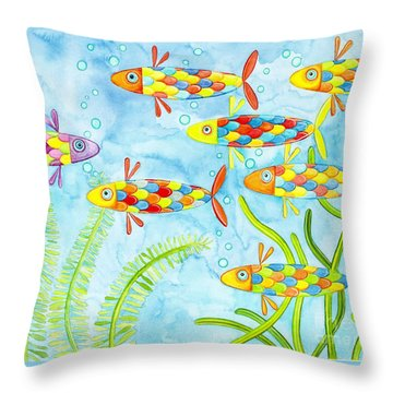 Dare To Be Different Throw Pillow by Stephanie Troxell