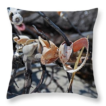Throw Pillow featuring the photograph Dare To Touch by Michiale Schneider