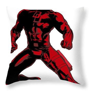 Daredevil Throw Pillow by Robert Massetti