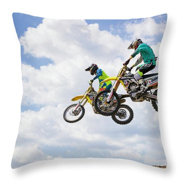 Daring Duo Throw Pillow by Fran Gallogly