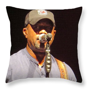 Darius Rucker Live Throw Pillow