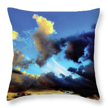 Dark And Dusty Skies  Throw Pillow