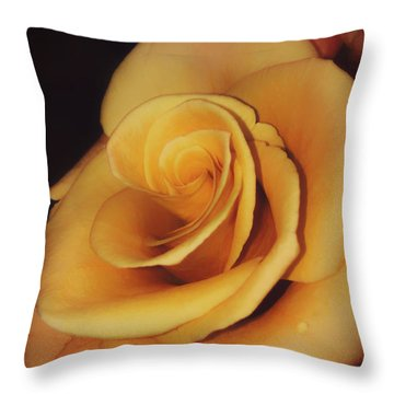 Dark And Golden Throw Pillow