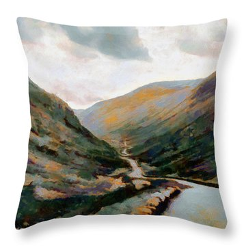 Dark And Moody Honister Pass In Cumbria Throw Pillow