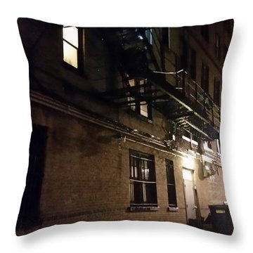 Dark And Rainy Night Throw Pillow