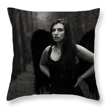 Throw Pillow featuring the photograph Dark Angel by Brian Hughes