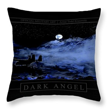 Dark Angel Throw Pillow by Todd Krasovetz