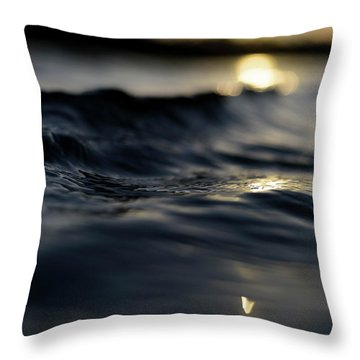 Throw Pillow featuring the photograph Dark Atlantic Traces by Laura Fasulo
