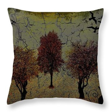 Dark Autumn Night Throw Pillow