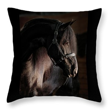 Dark Beauty Throw Pillow