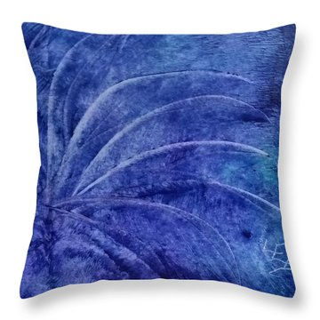 Dark Blue Abstract Throw Pillow