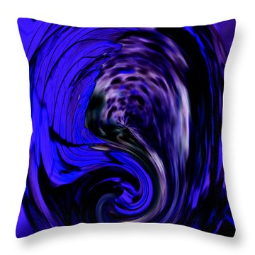 Dark Blue Egg Throw Pillow