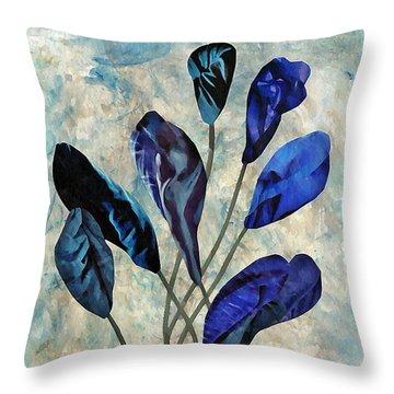 Dark Blue Throw Pillow by Sarah Loft
