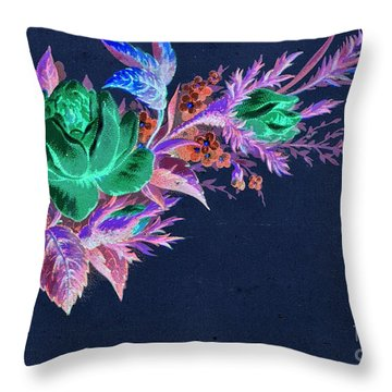 Dark Bouquet Throw Pillow