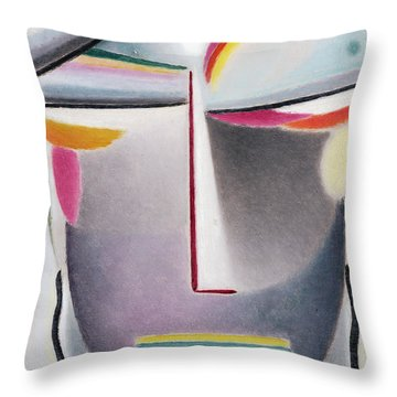 Lid Paintings Throw Pillows