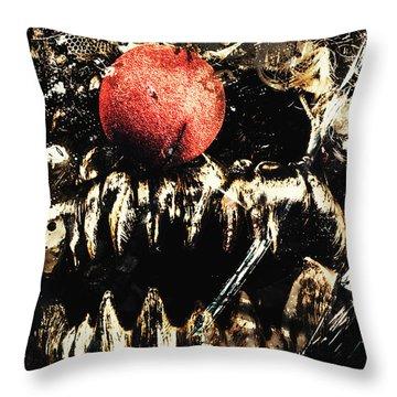 Dark Carnival Art Throw Pillow