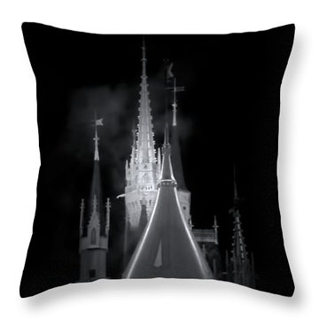 Throw Pillow featuring the photograph Dark Castle by Mark Andrew Thomas
