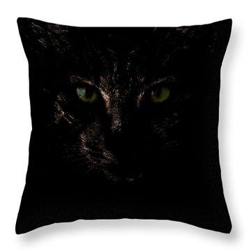 Dark Knight Throw Pillow by Helga Novelli