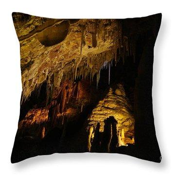 Dark Cave Throw Pillow by Oscar Moreno