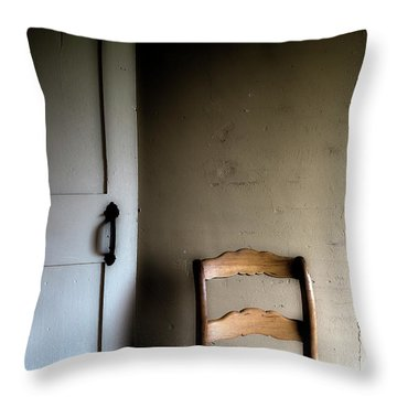 Throw Pillow featuring the photograph Dark Chair Olson House by Craig J Satterlee