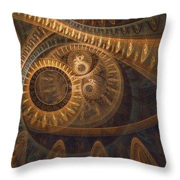 Dark Chronos Throw Pillow