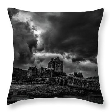 Dark Clouds Bw #h2 Throw Pillow