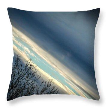 Dark Clouds Parting Throw Pillow