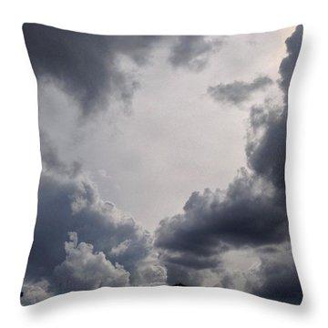 Dark #cloudscape Throw Pillow