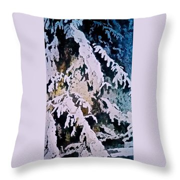 Throw Pillow featuring the painting Dark Cover by Carolyn Rosenberger