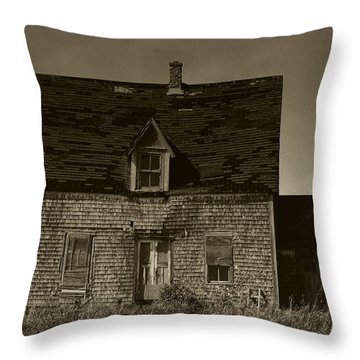 Throw Pillow featuring the photograph Dark Day On Lonely Street by RC DeWinter